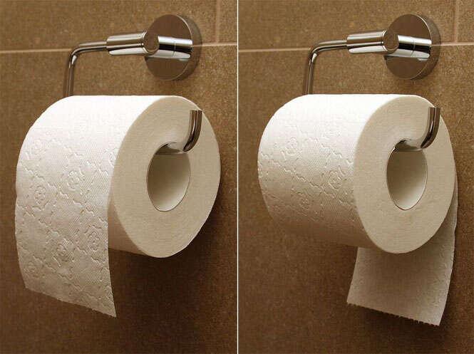 Descubra a maneira correta de pendurar o rolo de papel higiênico no banheiro