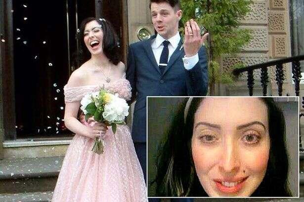Mulher acorda com rosto paralisado após se casar