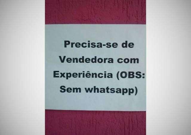 Empresário oferece emprego para quem não use o WhatsApp