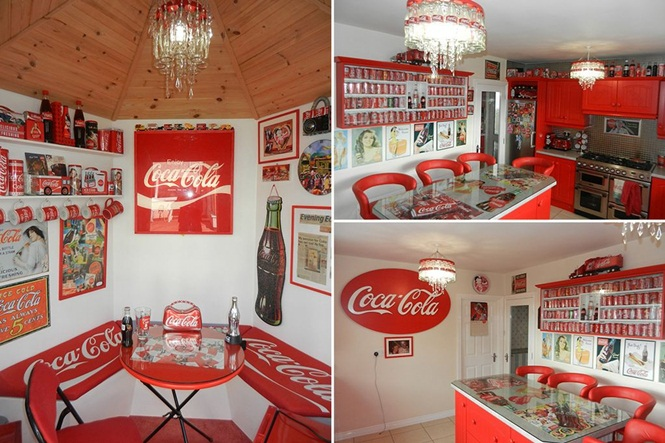 Mulher obcecada por Coca-Cola transforma sua casa em santuário da bebida