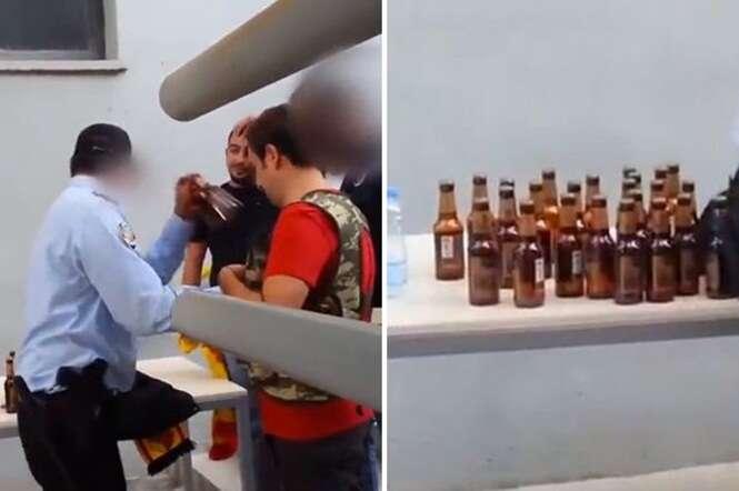 Torcedor é flagrado tentando entrar com caixa inteira de garrafas de cerveja em estádio de futebol