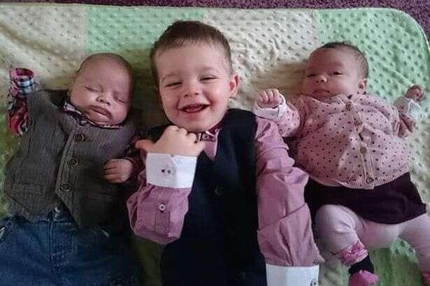 Veja os trigêmeos que nasceram com intervalo de 2 anos