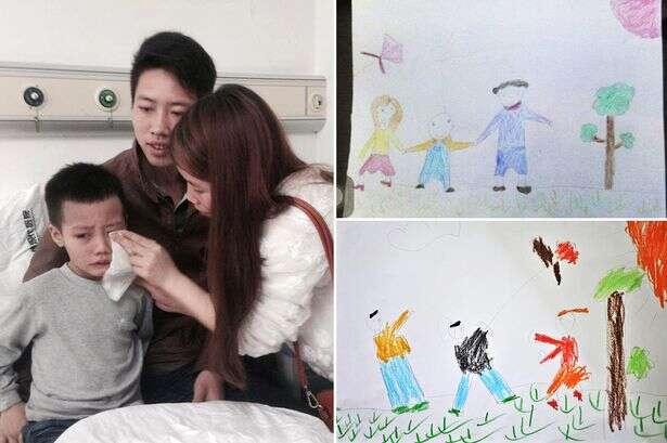 Pais reatam romance após se comoverem com desenho de filho doente