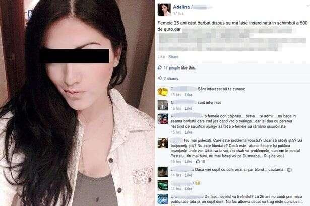 Mulher oferece 1.700 reais para encontrar homem que possa engravidá-la