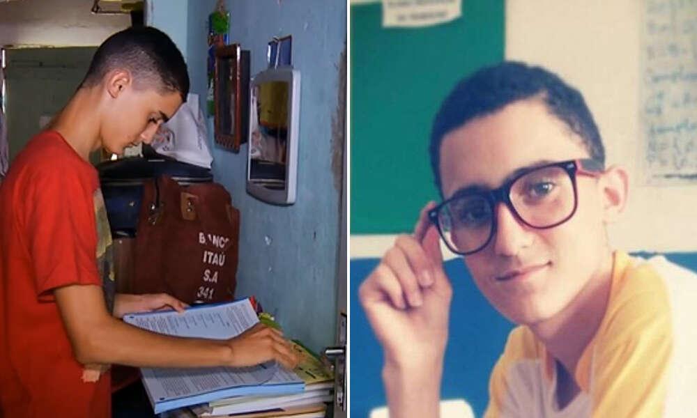 Adolescente passa em 1º lugar em escola federal ao usar livros coletados pela mãe, que é catadora de lixo