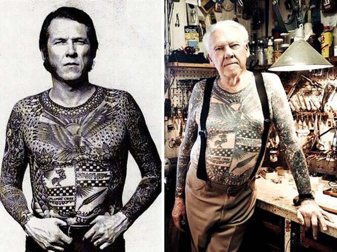 Veja as pessoas tatuadas ao atingirem a terceira idade