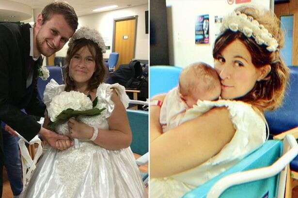 Mulher que recebeu diagnóstico que tinha apenas 48 horas de vida se casa no corredor de hospital com seu namorado