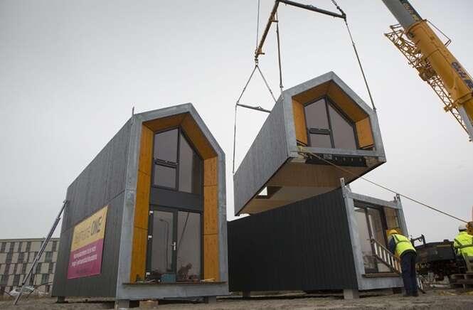 Empresa constrói casa em apenas um dia