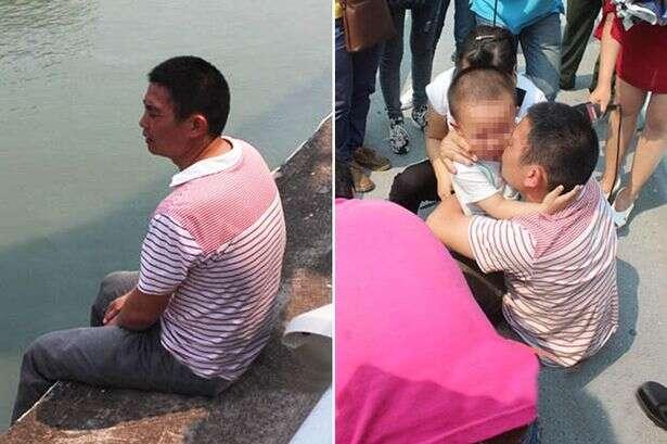 Homem prestes a cometer suicídio desiste da morte após filho pedir para ele não morrer