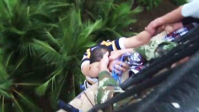 VID: Drunk Left Hanging By Fingertips Over 100 Foot Drop