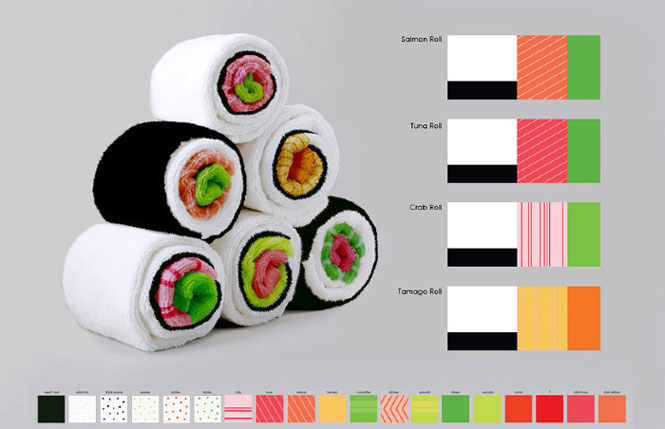 Toalhas de sushi