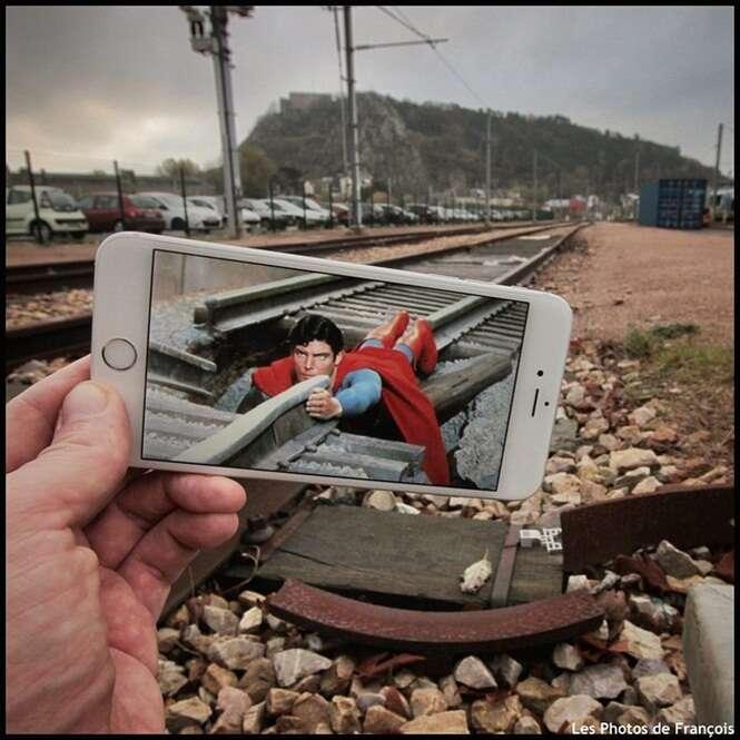Fotógrafo usa iPhone para criar cenas de filmes com imagens bem divertidas