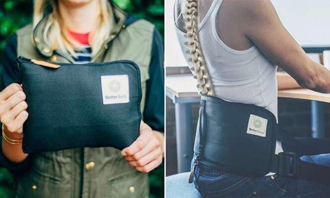 Cinto inovador corrige postura e alivia dores nas costas
