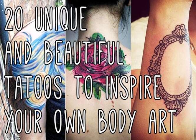 Tatuagens incríveis vão acabar com dúvida sobre qual desenho escolher