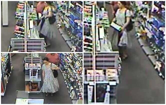 Mulher rouba 7 itens de computadores escondendo mercadorias debaixo de seu vestido
