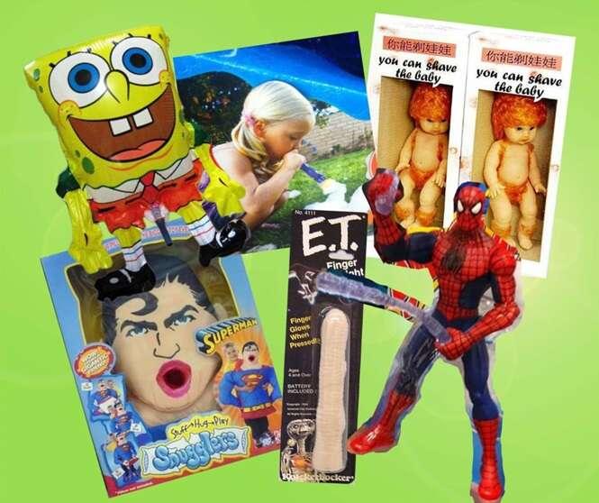 Brinquedos completamente inadequados para crianças