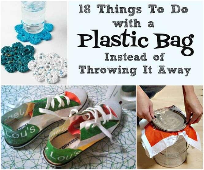 Maneiras criativas de reaproveitar sacolas plásticas de supermercados