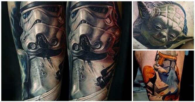 Tatuagens para quem é fã de Star Wars