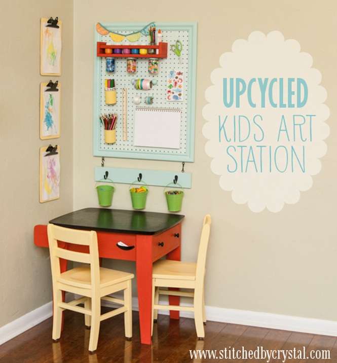 Objetos diferentes reaproveitados para nossos filhos