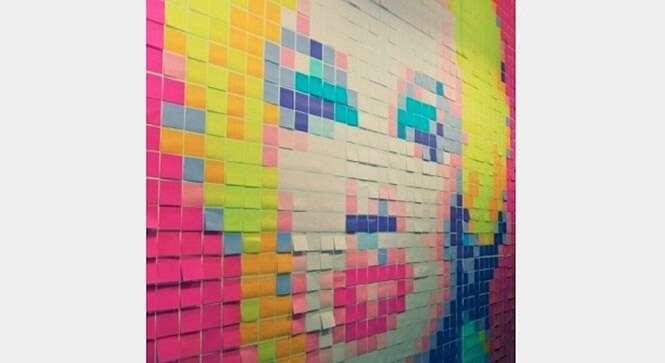 Obras de arte criadas com o famoso papel adesivo