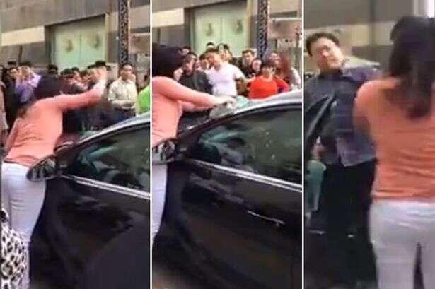 Mulher descobre traição do marido e destrói carro dele como vingança
