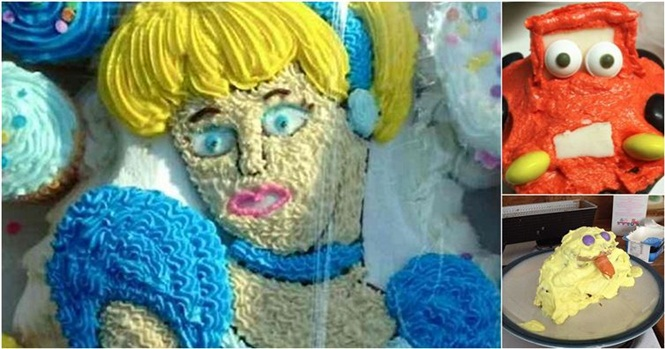 Os bolos desastrosos de personagens da Disney