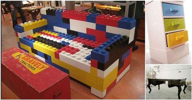 Móveis e utensílios incríveis feitos de LEGO