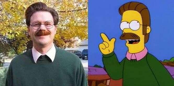 As pessoas que se parecem com os personagens do desenho Os Simpsons