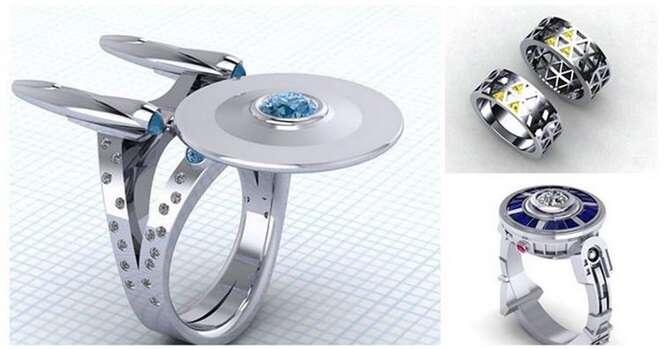 Os anéis mais curiosos de casamento Geek