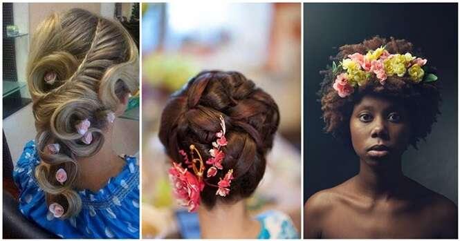 Lindos penteados femininos dignos de uma princesa