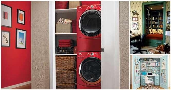 Formas interessantes de aproveitar o closet de casa