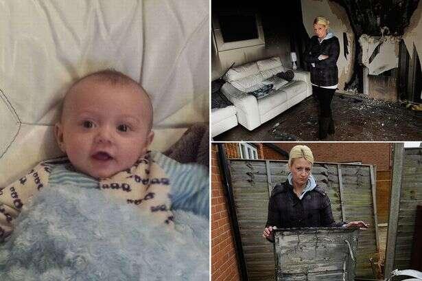 Bebê quase morre após TV explodir enquanto ele assistia