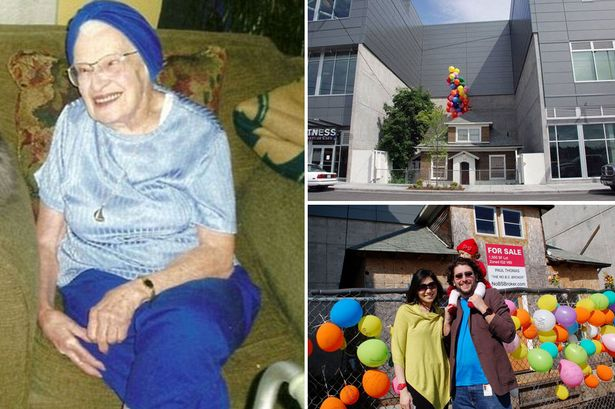 Proprietária falecida recebe balões como homenagem ao se recusar a vender casa