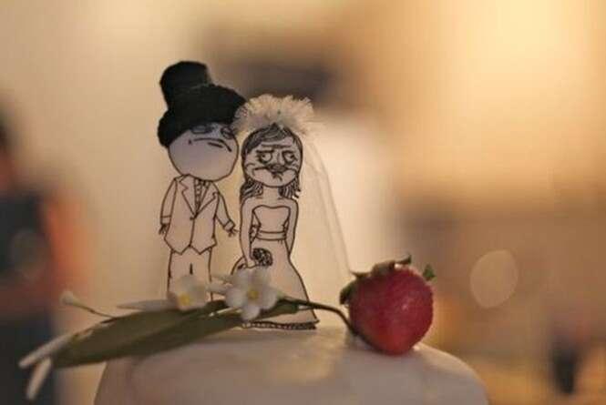 Os mais divertidos noivos para o topo do bolo de casamento