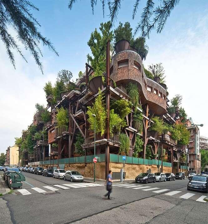 Apartamento de luxo na árvore chama a atenção na Itália