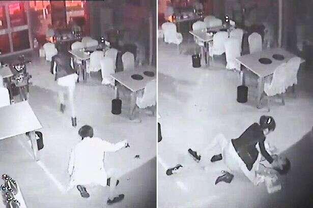 Imagens flagram momento em que estuprador tenta violentar mulher antes de ser espancado por vítima