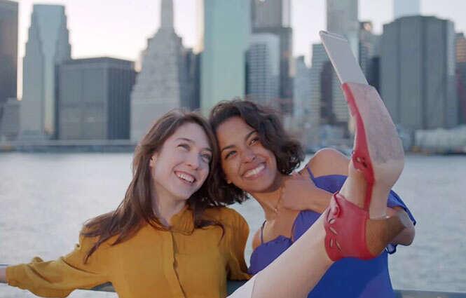 Sapato para selfies