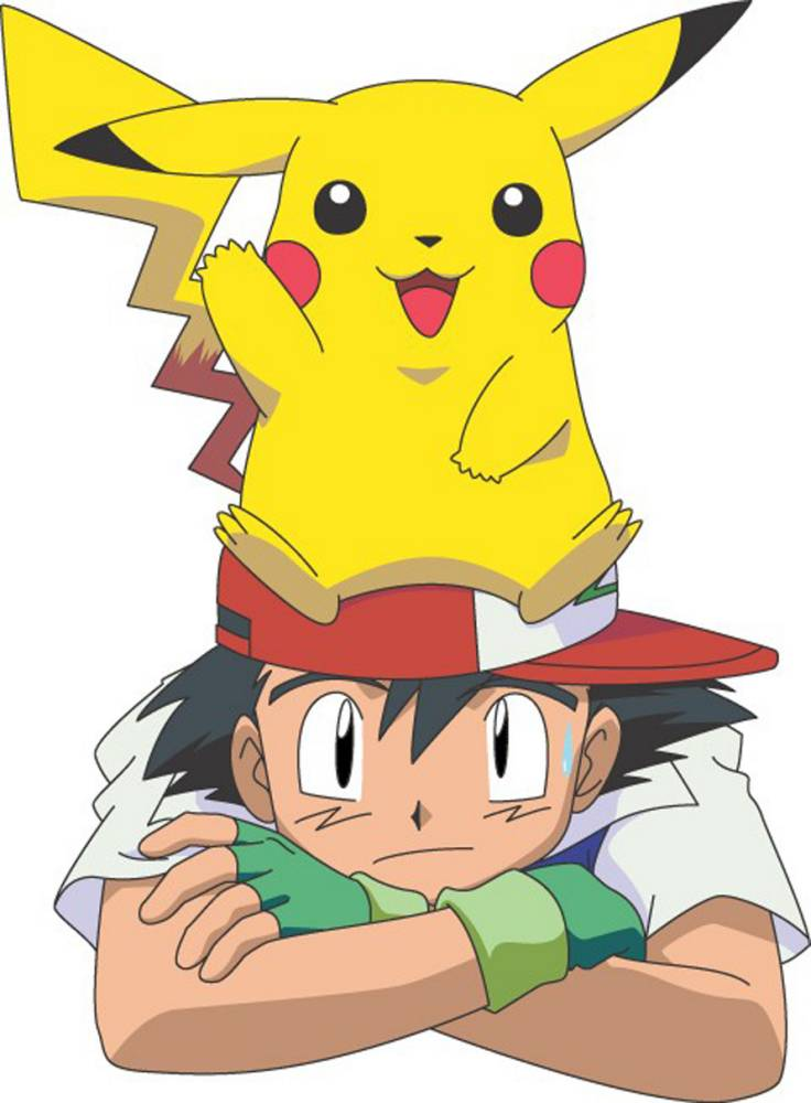 Television programme : POKEMON CHRONICLES showing Pikachu and Ash.  1.JPG