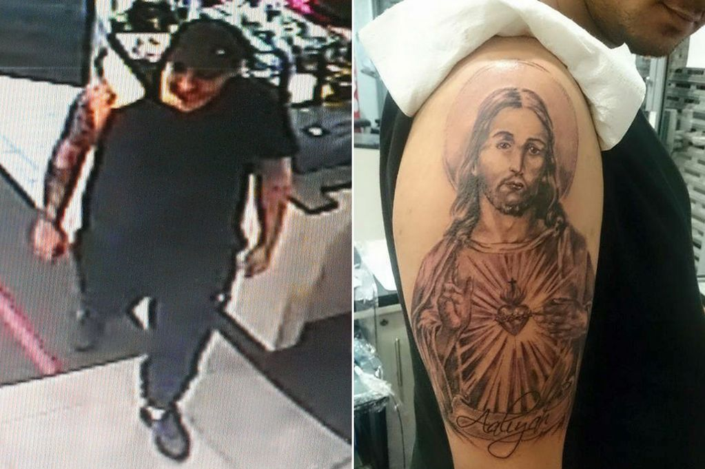 Ladrão passa 6 horas recebendo tatuagem de Jesus no braço e ao acabar rouba estúdio de tatuagem