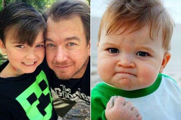 Bebê que ficou famoso por virar um meme na internet tenta encontrar doador de rim para seu pai