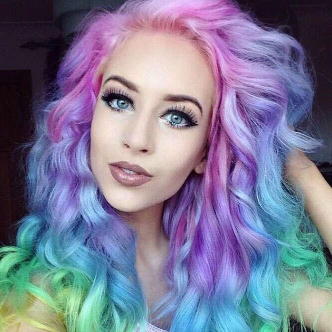Cabelos arco-íris