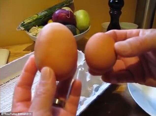 Vídeo se torna viral ao mostrar homem abrindo ovo gigante para encontrar outro de tamanho padrão dentro