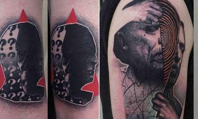 Artista impressiona com tatuagens surrealistas