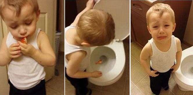 """Criança cai no choro ao realizar """"funeral"""" do peixinho de estimação"""