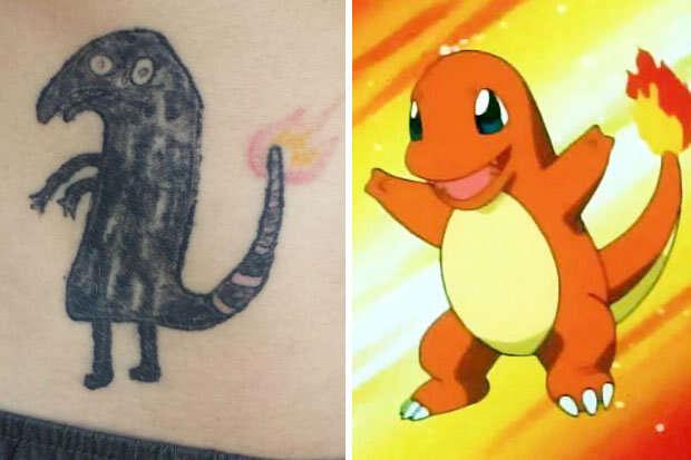 Homem bêbado tenta tatuar Pokémon no corpo e resultado é bizarro
