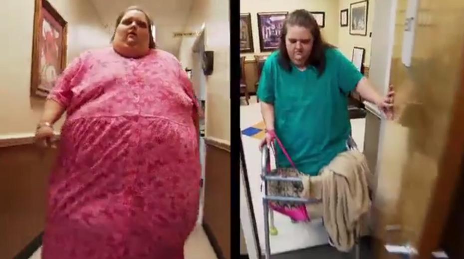 Obesa que ficou paralisada devido ao peso muda de vida para conseguir voltar a andar