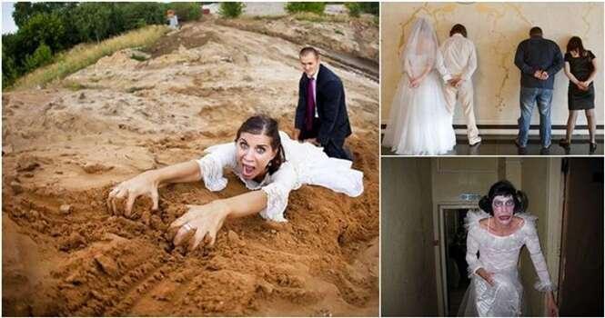 Fotos bizarras de casamento que não fazem o menor sentido