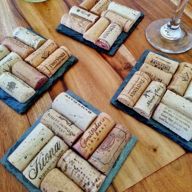 Ideias criativas para reutilizar rolhas de garrafas