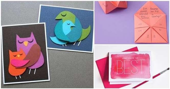 Ideias criativas de cartões para o Dia das Mães