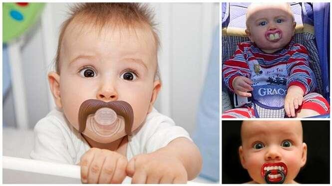 Confira as chupetas mais engraçadas para seu bebê